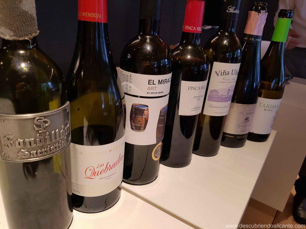 Maridaje Vinos de Alicante en Restaurante Alfonso Mira Aspe
