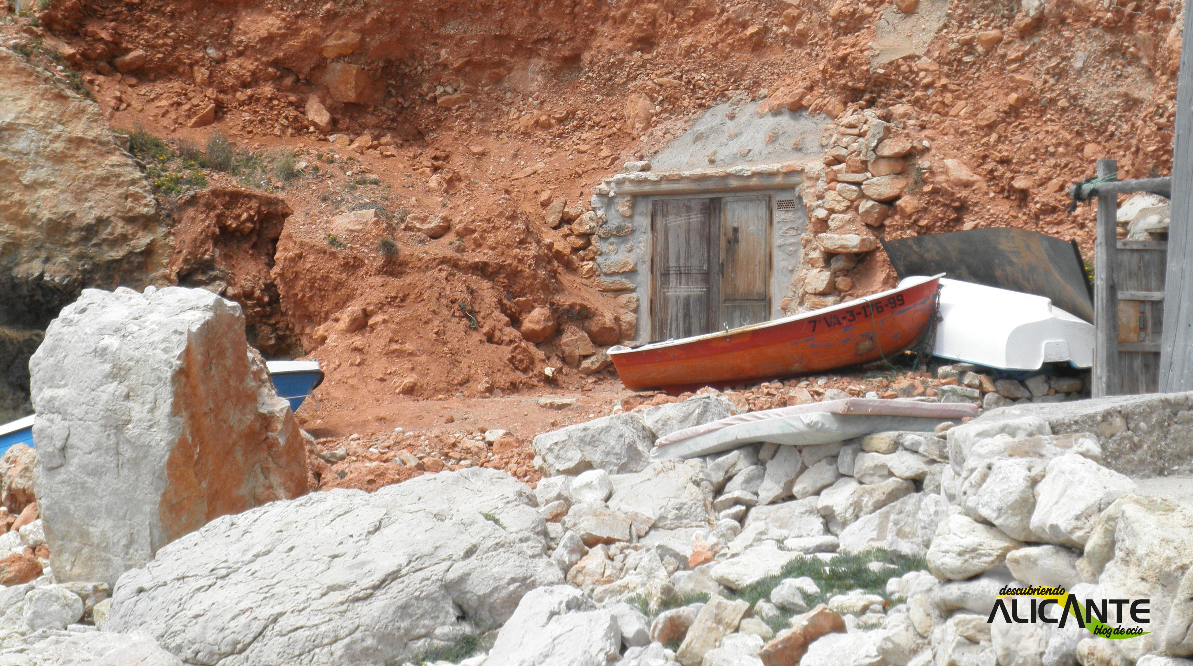 Cala Llebeig Casetas de pescadores