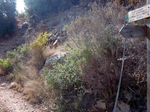 Indicaciones ruta Cala Moraig