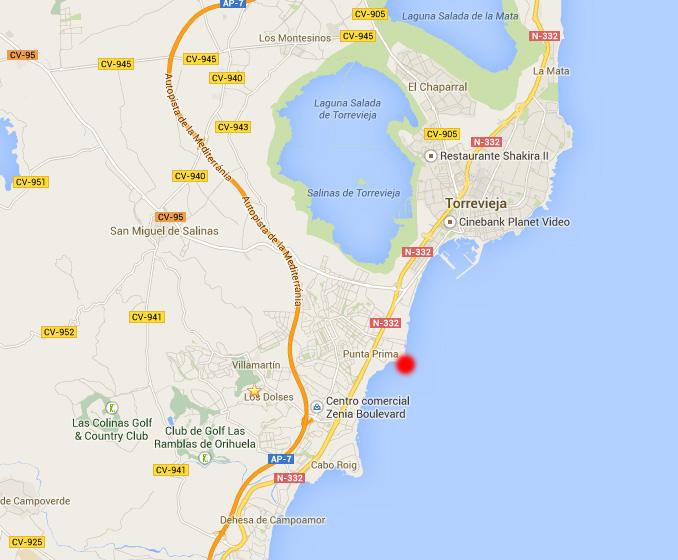 Mapa de la Playa Punta Prima