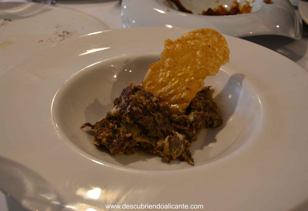 restaurante alfonso pinoso  revuelto-morcilla