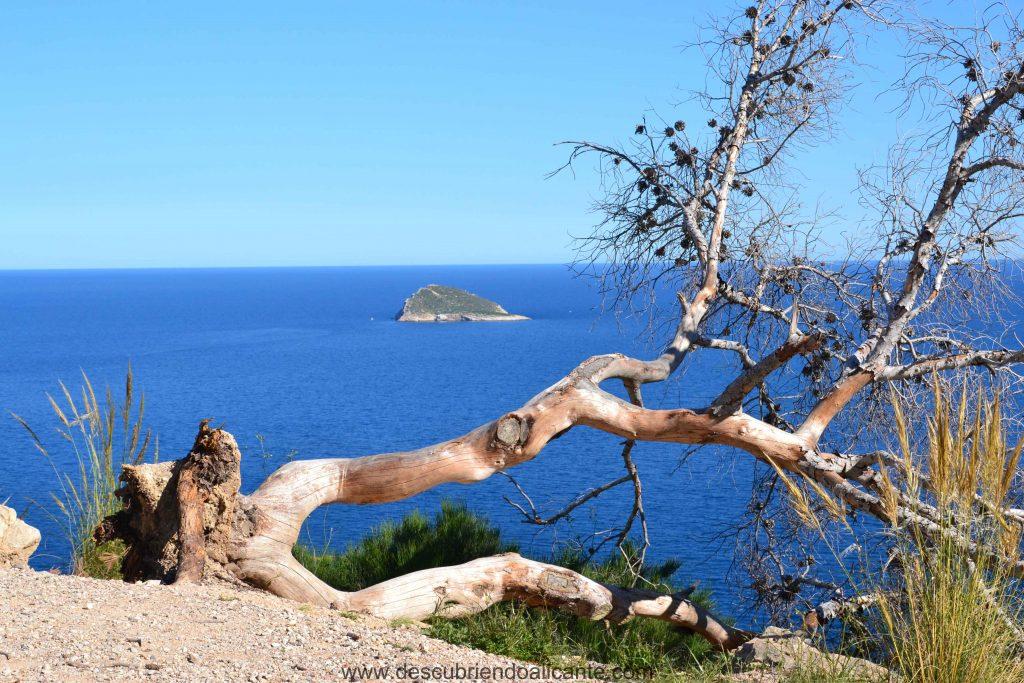 Isla de Benidorm desde la Torre del Aguiló Villajoyosa