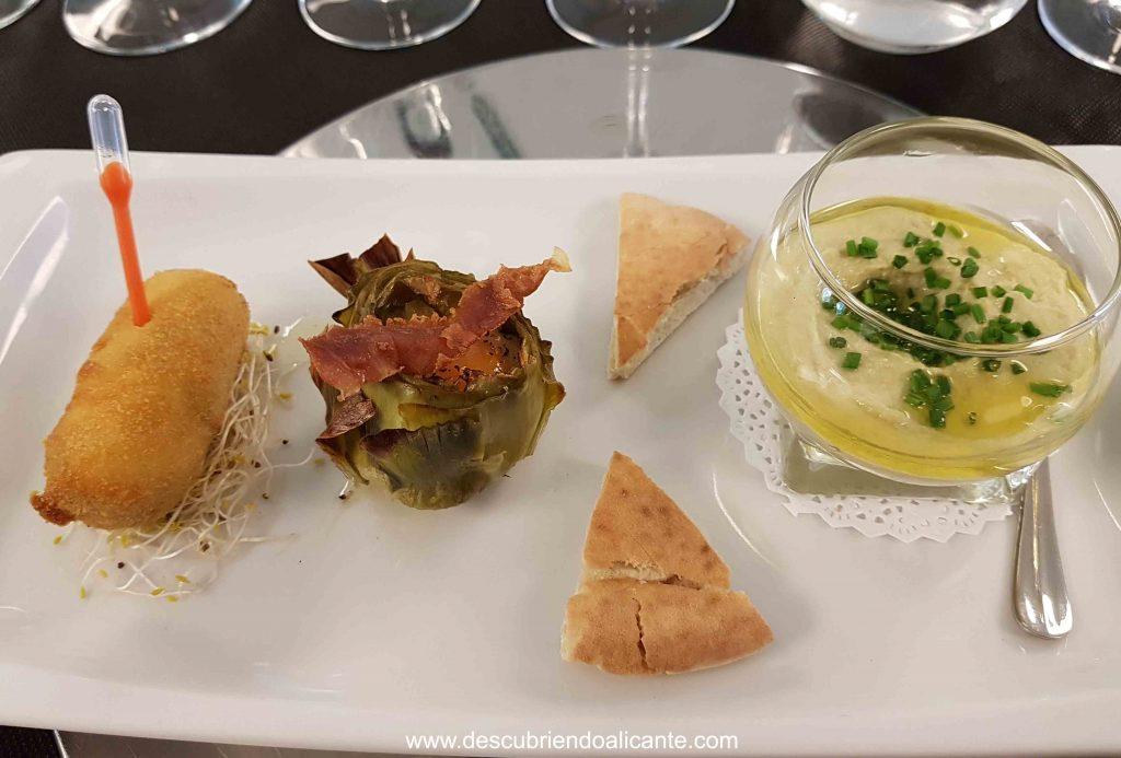 Menú con Alcachofa de la Vega baja, Alicante
