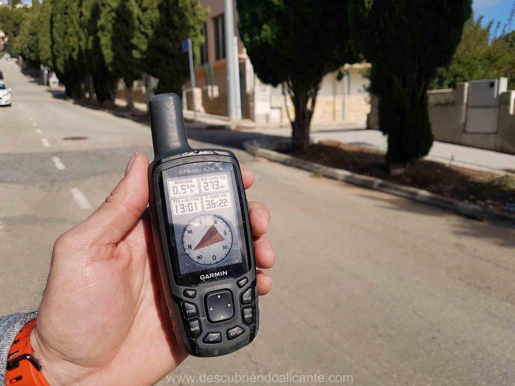 geocaching con GPS en Alcalali