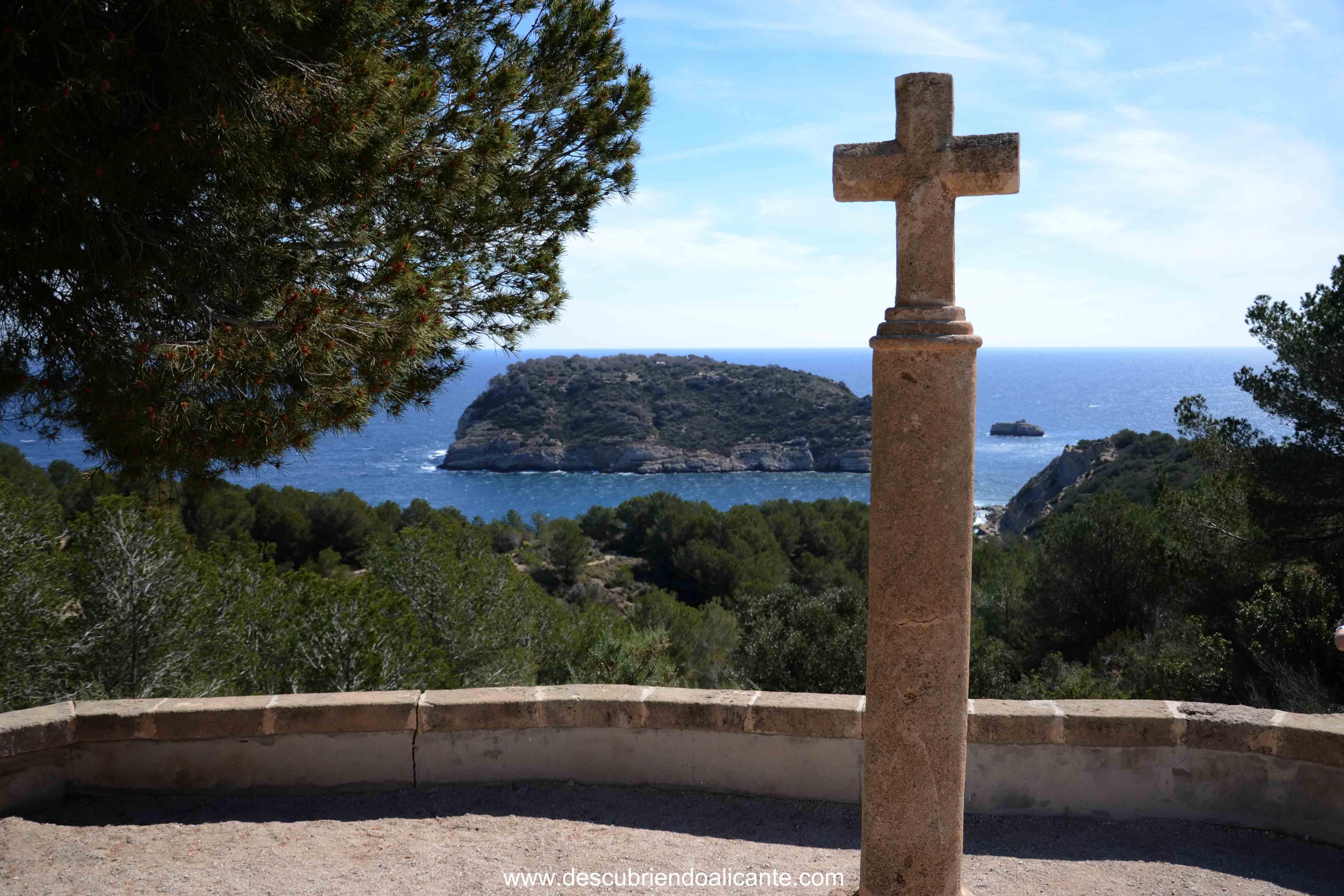Cruz del portitxol Miradores de Jávea- Xabia