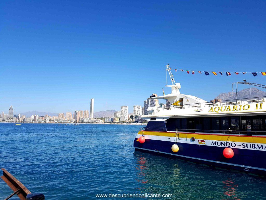 barco excursion isla benidorm