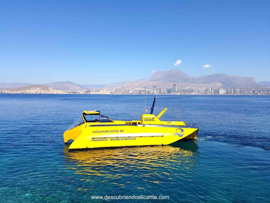submarino isla de benidorm