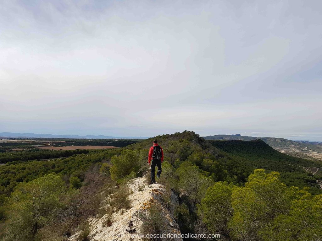 Ruta por la Cresta de la Sierra Escalona Orihuela Alicante