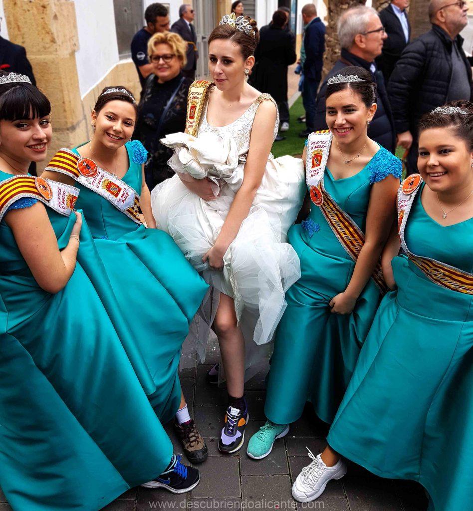Reina y Damas de las fiestas de La Nucia